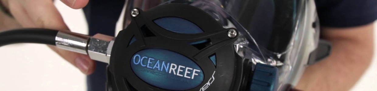 Ocean Reef Full Face Mask GDivers series connected divers future diving
